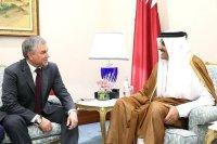 Володин: Эмир Катара поддерживает шаги президента РФ на Ближнем Востоке