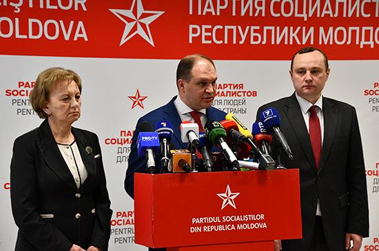 Партия социалистов Молдавии поставила условия для создания коалиции