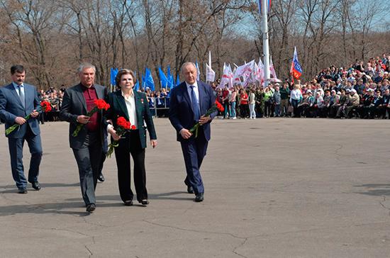 Гагарин и Терешкова — олицетворение побед, заявил Володин