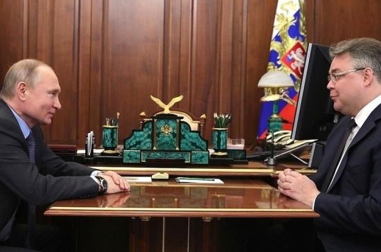 Путин поддержал планы главы Ставрополья баллотироваться на новый срок