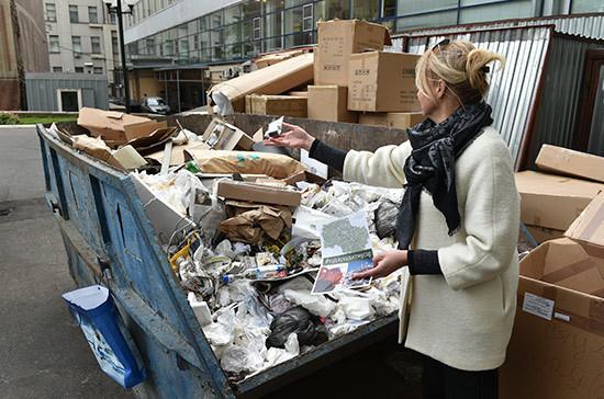 Плату за вывоз мусора предлагают формировать по количеству жильцов