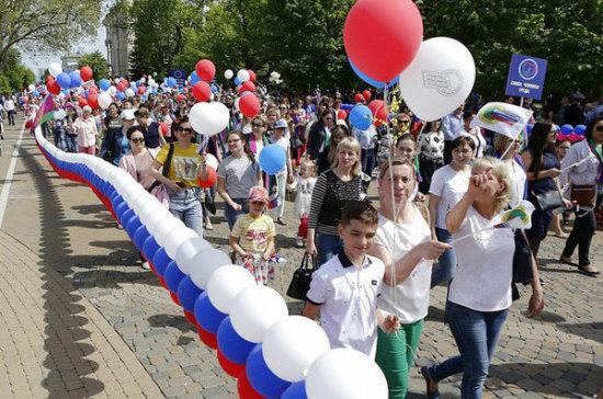 Почти 400 тысяч жителей Краснодарского края вышли на первомайские демонстрации