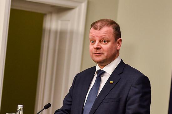 Премьер Литвы поддержал предложение уйти в оппозицию в случае проигрыша на выборах