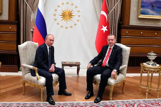 Путин и Эрдоган обсудили по телефону эскалацию в сирийском Идлибе