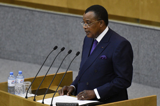 Лидер Республики Конго попросил Госдуму о поддержке строительства нефтепровода