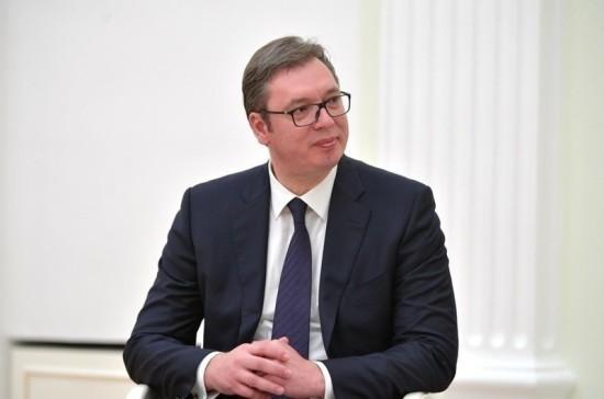 Вучич поблагодарил Путина за помощь в косовском вопросе