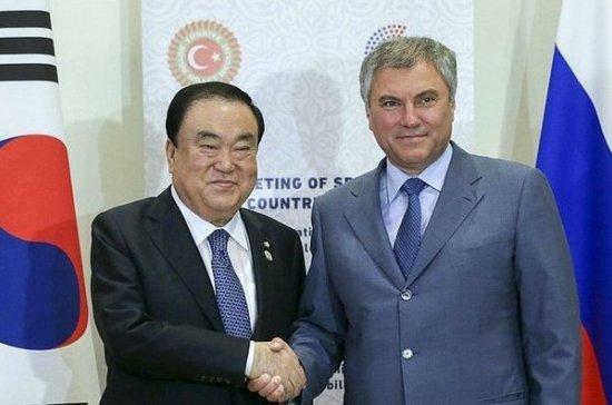 Глава Нацсобрания Южной Кореи пригласил Путина выступить перед парламентариями в Сеуле