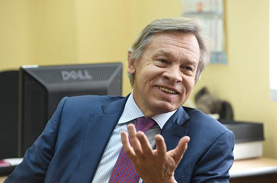 Пушков оценил призыв Зеленского к украинским политикам есть шаурму