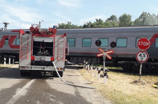 В Адыгее бензовоз столкнулся с поездом