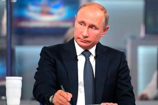 Названы самые популярные вопросы для прямой линии с Путиным