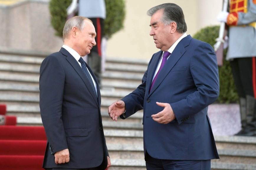 Путин провёл переговоры с президентом Таджикистана