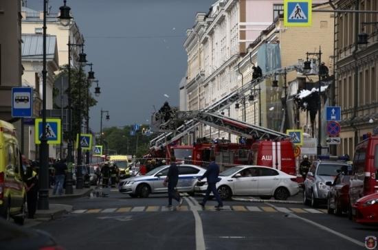 В центре Москвы загорелось историческое здание