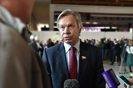 Пушков обсудил с представителем ОБСЕ по СМИ ситуацию с российскими журналистами на Украине