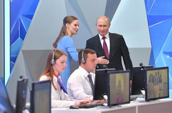В Кремле рассказали о подготовке к «Прямой линии» с Путиным