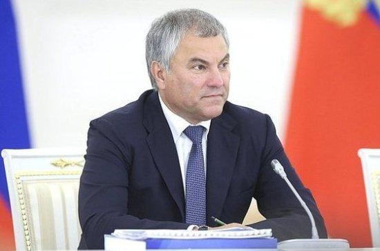 Володин принял участие в заседании Государственного совета