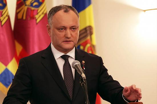 Додон приветствовал возобновление сотрудничества парламентов Молдавии и России