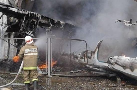 В Бурятии потушили пожар на месте крушения пассажирского Ан-24