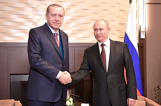 Путин перед началом саммита в Осаке поговорил с Эрдоганом