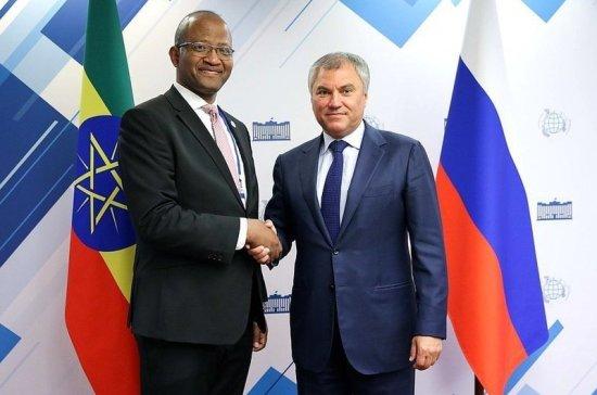 Володин предложил законодательно поддержать подготовку африканских педагогов-русистов