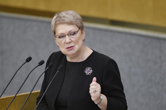 Васильева призвала обратить внимание на вопросы определения стажа соцпедагогов и вожатых