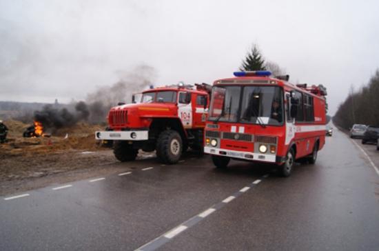 В Кузбассе потушили пожар на шиноперерабатывающем заводе