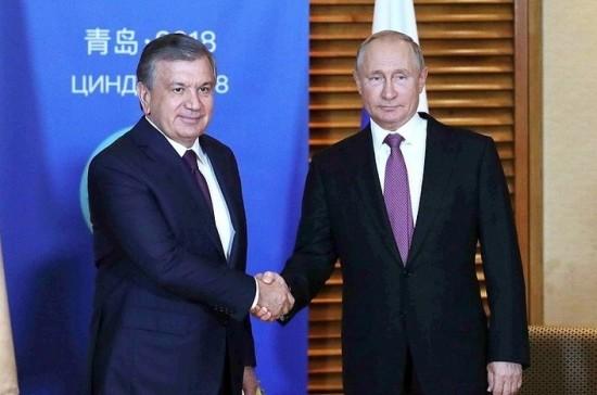 Владимир Путин поздравил президента Узбекистана с днём рождения