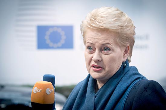 В Литве предложили выдвинуть экс-президента Грибаускайте в Еврокомиссию