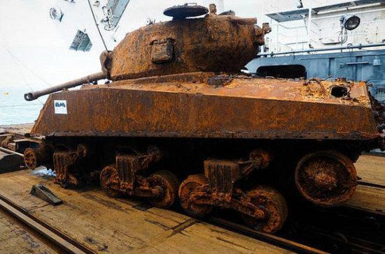 В Туле восстановят поднятый со дна Баренцева моря танк