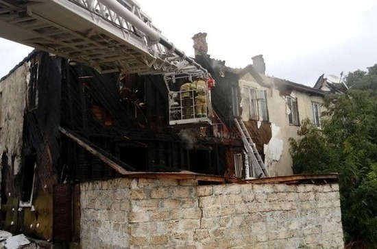 В Севастополе произошёл пожар в многоквартирном доме