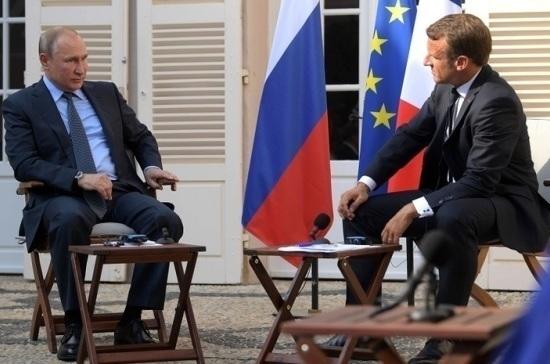 Путин и Макрон обсудили Украину на переговорах во Франции