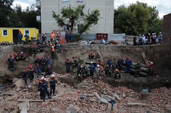 Тело второго погибшего извлекли из-под завалов в Новосибирске