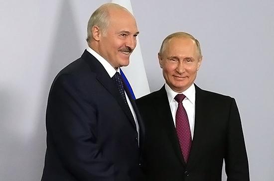 Путин поздравил Лукашенко с юбилеем