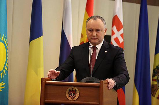 Президент Молдавии сообщил о целях визита в Москву