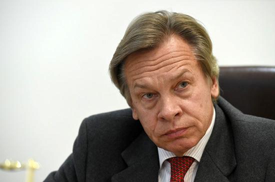 Пушков назвал реакцию Латвии на свои слова о «советской оккупации» паранойей