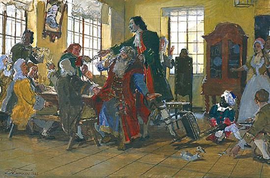 Насильно лишенные Петром I бороды бояре иногда сводили счёты с жизнью