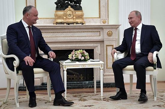Додон: Россия и Молдавия договорились о снижении цены на газ