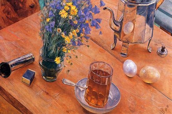 Прародителя советского граненого стакана обнаружили на картине Кузьмы Петрова-Водкина