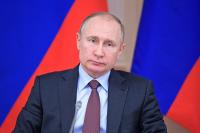 Путин возложил цветы к памятнику погибшим воинам Ботлихского района Дагестана