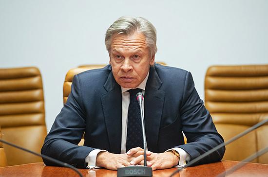 «Мрачное сумасшествие»: Пушков оценил слова Турчинова о войне с Россией