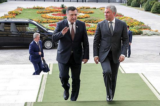 Володин пригласил спикера Законодательной палаты Узбекистана в Москву