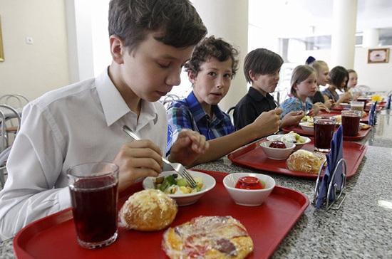 В Госдуму внесли законопроект об обязательном горячем питании для школьников младших классов