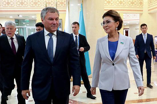 Володин обсудил со спикером Сената Казахстана вопросы использования водных ресурсов
