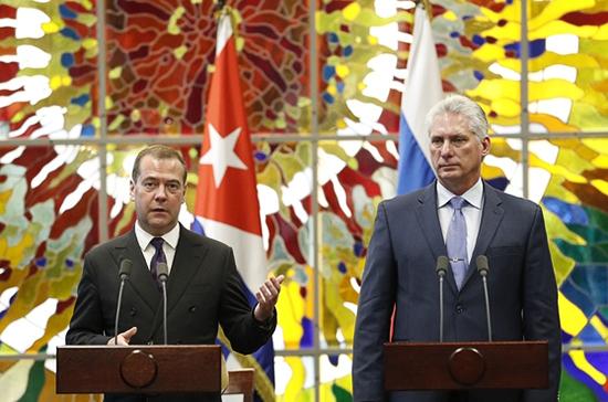 Медведев заявил о беспрецедентном давлении на Россию и Кубу