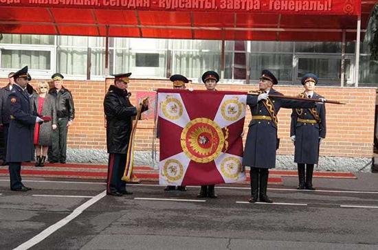 Золотов вручил орден Жукова военному институту Росгвардии в Санкт-Петербурге