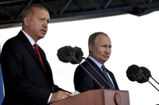 Путин и Эрдоган находятся в контакте по ситуации в Сирии, заявил Небензя