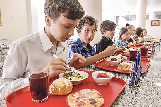 Госдума планирует рассмотреть законопроект о горячем питании для школьников