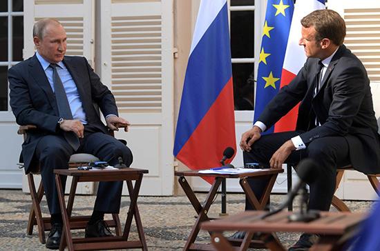Путин и Макрон заявили о безальтернативности Минских соглашений