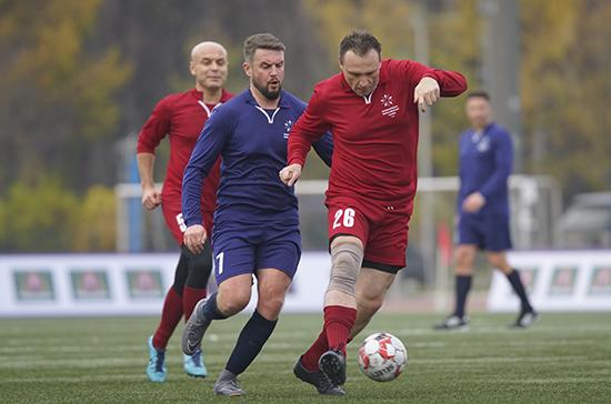 Команда России одержала победу в футбольном матче на X Парламентских играх