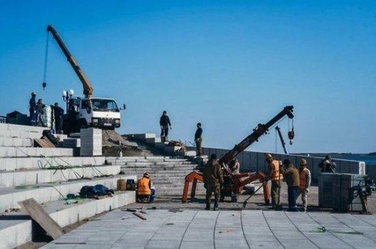 Реконструкция набережной в Благовещенске завершится в ноябре