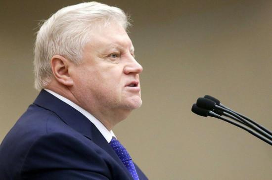 Миронов отметил социальную направленность в бюджете на 2020 год